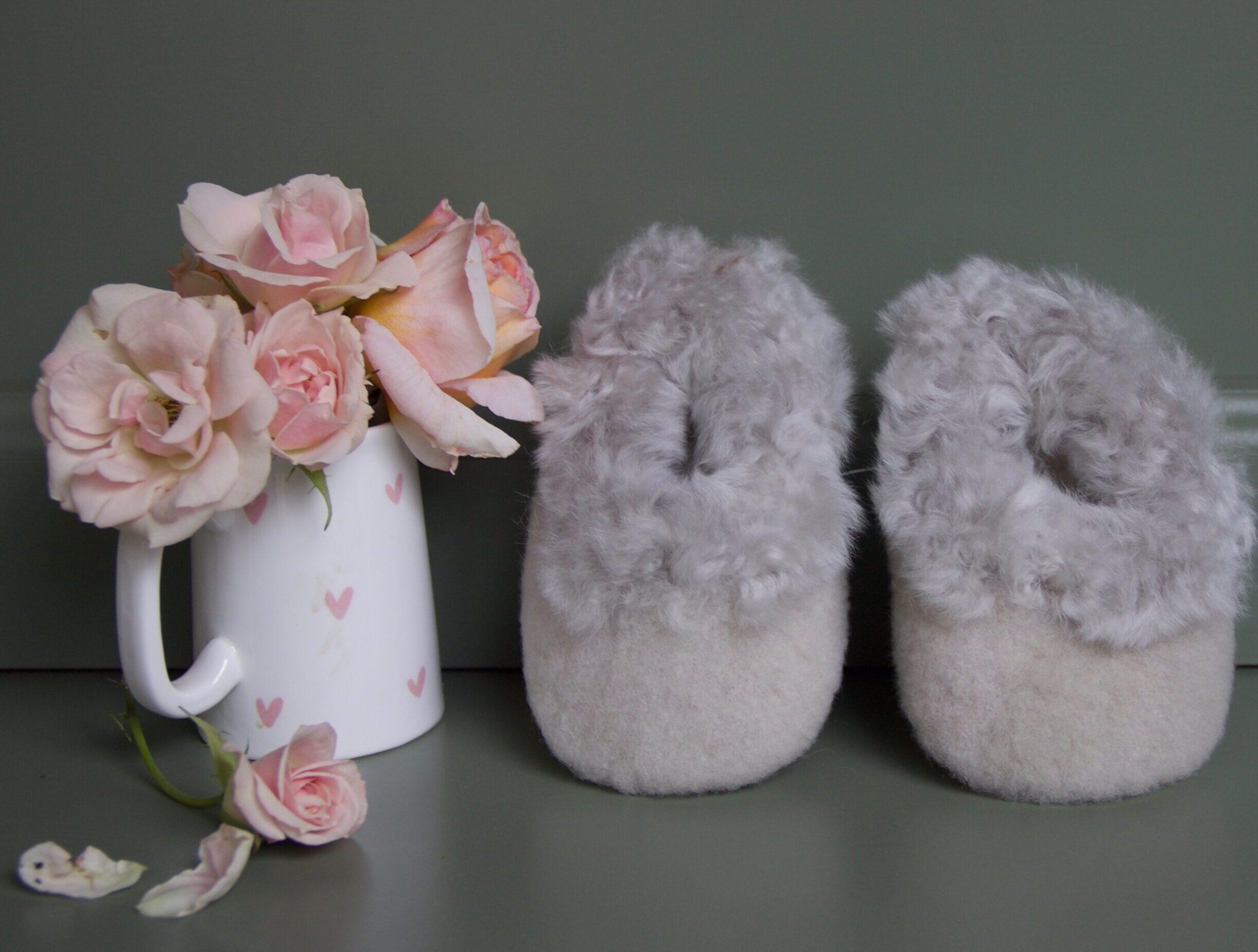 Softly Alpaca Baby Booties